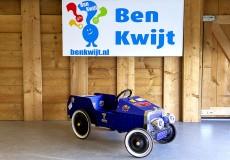 Blauwe Cars trapauto